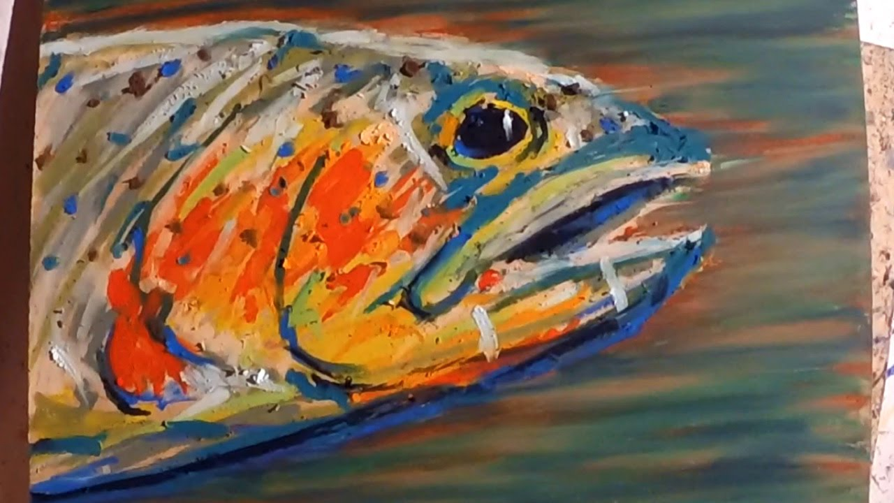 Cray-Pas Oil Pastel Speed Drawing by Artist Max Rowe - YouTube