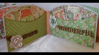 Altered Chipboard Fence Album Part-2 Of 6 (vlog)