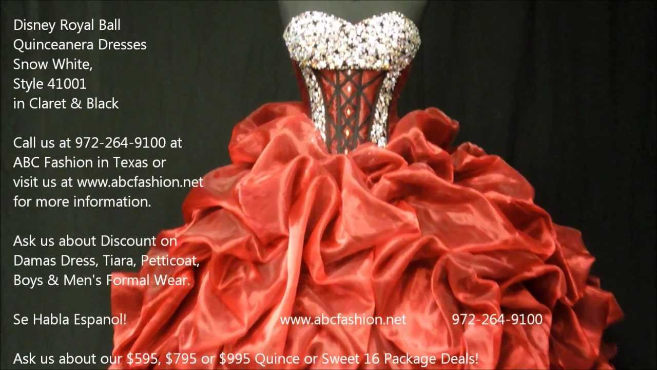 41001 Snow White Disney Royal Ball Quinceanera Dress In