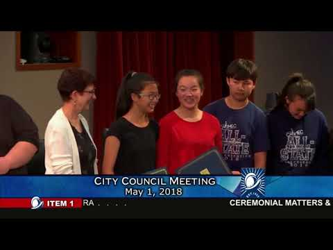 Cupertino City Council Meeting - May 1, 2018