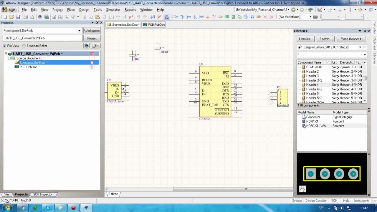 Altium#11_1 USB UART Converter CP2102