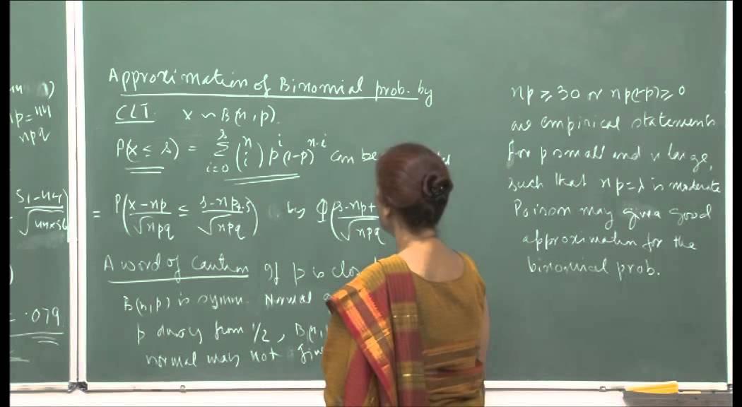 Mod-01 Lec-22 Applications of central limit theorem