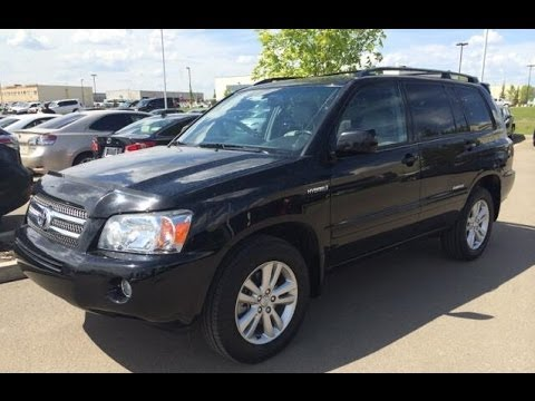 Pre Owned Black On Grey 2007 Toyota Highlander 4WD 4dr Hybrid Limited