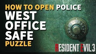 West Office Safe Combination Resident Evil 3 Remake (Open S.T.A.R.S. Police Safe)