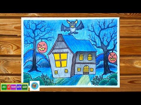 Vẽ Tranh 3d Halloween Đơn Giản - How to Draw Halloween