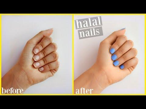 My Halal Nail Care Routine | Salat Friendly - YouTube