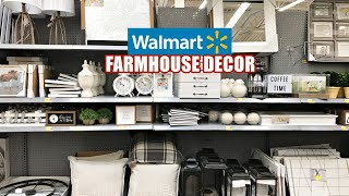 WALMART FARHMHOUSE DECOR SHOP WITH ME NEW FINDS!
