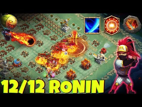12/12 RONIN | Increases Accuracy By 20% !! | GUILD WARS | CASTLE CLASH