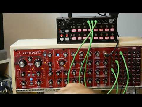"""Behringer Neutron - Korg SQ1 Quick Tip """"accent in the sequence"""""""