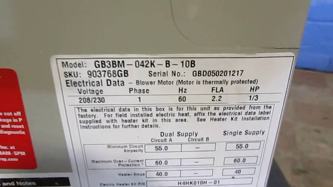 Nordyne Used Ac Air Handler Gb3bm