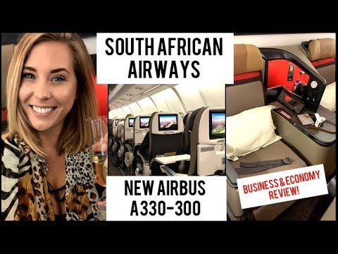 South African Airways New A330-300 Tour & Review | Economy & Business AD