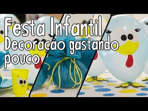 Festa Infantil Galinha Pintadinha, decoração gastando pouco