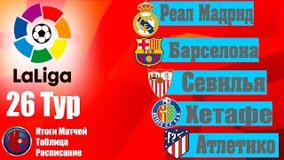 Футбол 26 тур Чемпионат Испании 2019 20 Ла Лига Итоги матчей 26 го тура Расписание