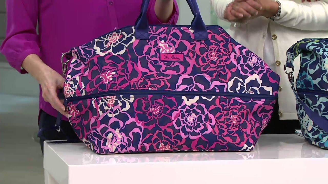 Vera Bradley Lighten Up Expandable Travel Bag on QVC - YouTube b41b75fe13013