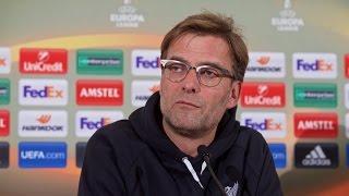 liverpool vs man united europa league jurgen klopp pre match press conference