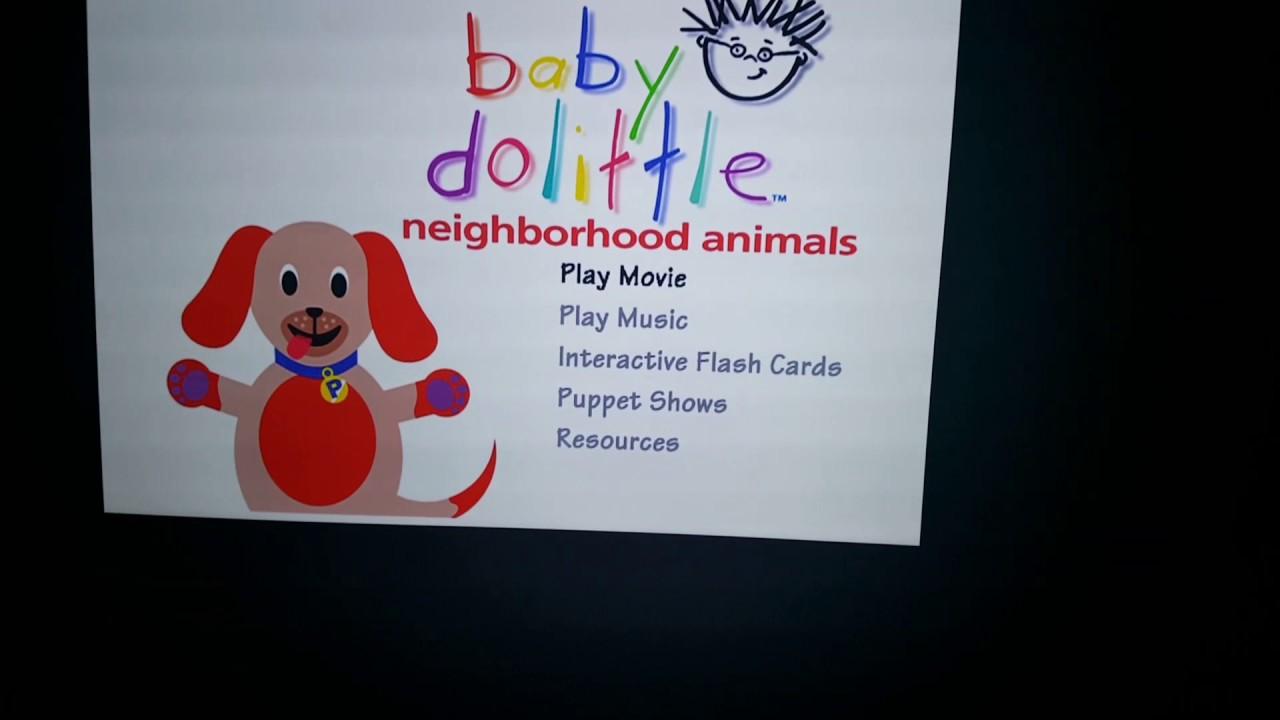 Baby Dolittle: Neighborhood Animals DVD Menu - YouTube