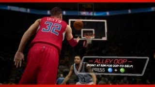 NBA 2K13: All New Controls Trailer | How to Self Alley Oop | Full Breakdown Ft Blake Griffin