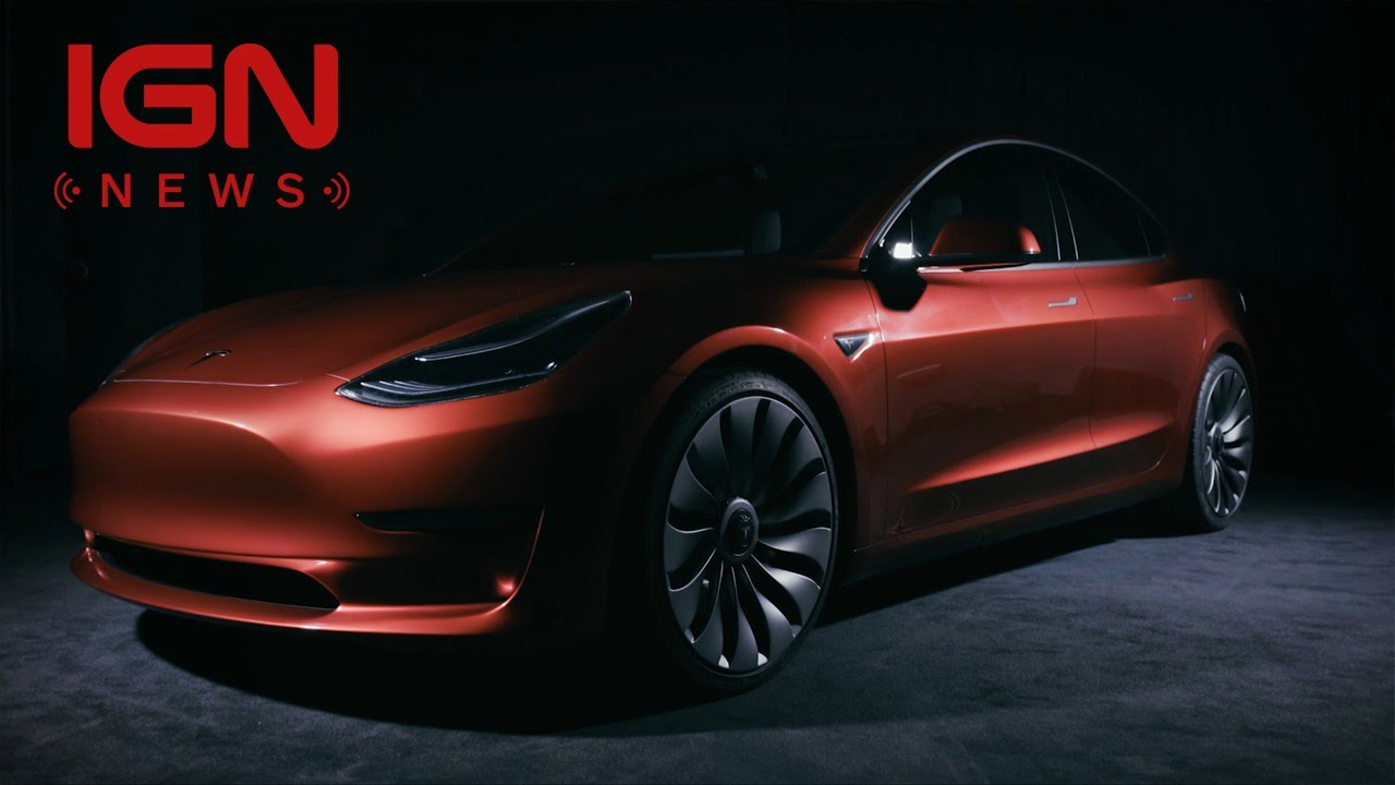 tesla reveals $35k model 3 electric car - ign news - youtube