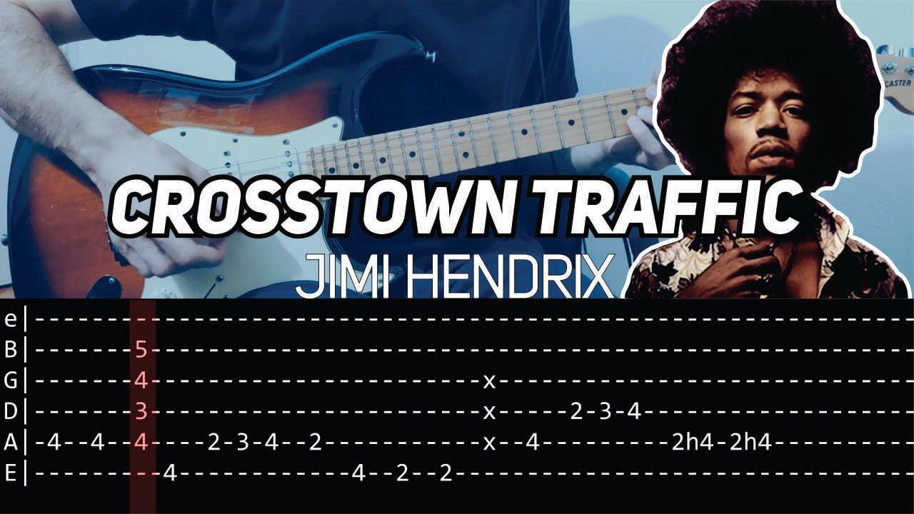 Jimi Hendrix - Crosstown traffic (Guitar lesson with TAB)
