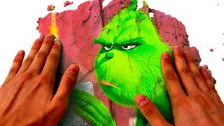 Kinetic Sand Green Screen Mad Mattr The Grinch Funny Show For Kids Magic Video For Children