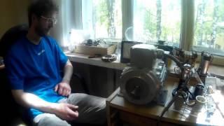 Реакция холодного тока Тесла на двигатель постоянного тока