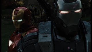 Железный Человек и Машина Войны против Дронов | Железный Человек 2 (2010)