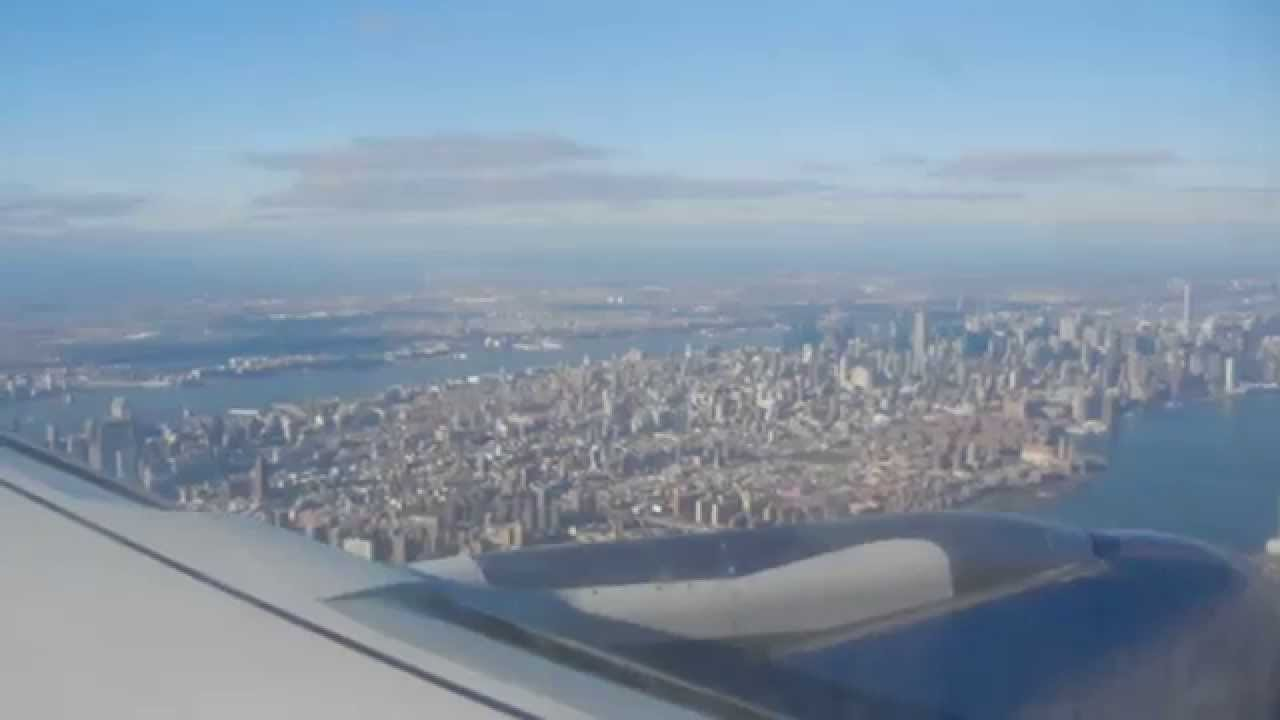 Delta Flying Over Downtown Manhattan Amp Landing At Lga