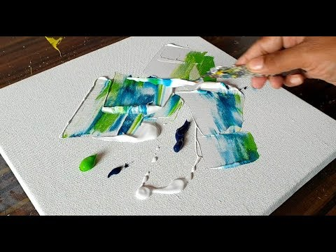 Easy Abstract Floral Painting Acrylics Palette Knife Demonstration Project 365 Days Day 0246 Youtube