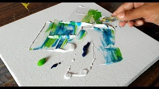 Easy Abstract Floral Painting / Acrylics & Palette knife / Demonstration /Project 365 days/Day #0246
