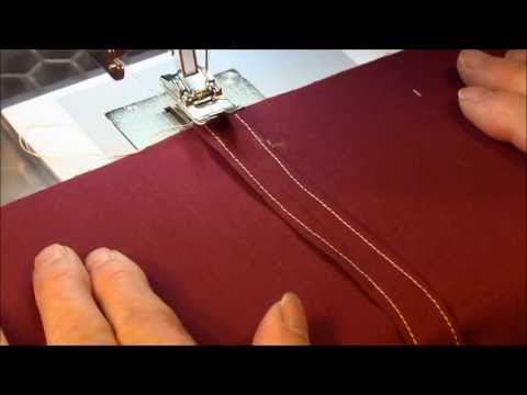 Seam Finishing Technique - Clean Finished Seam (Turn and Stitch Seam)
