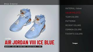 b3253891240614 NBA 2K19 Shoe Creator - Air Jordan 8 `Ice Blue` by Zorify