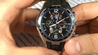 Что такое тахиметр? Casio Edifice EFR-528RBP-1A - видео от President Watches