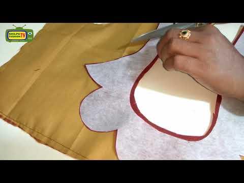 How to make Designer Blouse at Home-91|Designer Bridal Back Neck Blouse Pattern - 2018|stitching