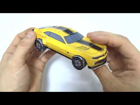 How to make transformer car bumblebee crafts with paper Diy! Video for kids