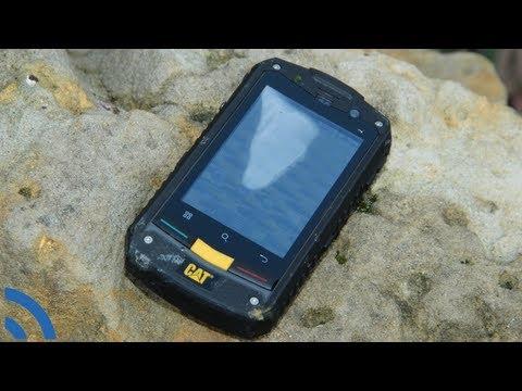 CAT B10: Test odolného telefonu v pračce, myčce a venkovním prostředí (crashtest)