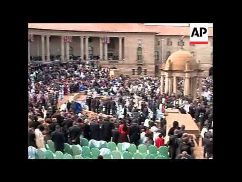 Swearing in of Jacob Zuma as president