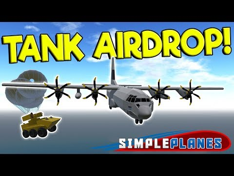 TANK AIRDROP & WWI AIRSHIP DOGFIGHT! - Simple Planes Creations Gameplay - Best Military Creations