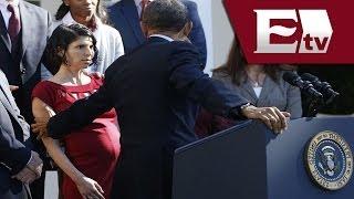 VIDEO: Barack Obama interrumpe su discurso para ayudar a mujer embarazada / Vianey Esquinca