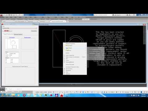 Find and Replace Objects in AutoCAD with dwgExplore