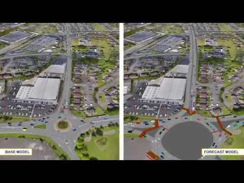 A2 Buncrana Road Traffic Model Visualisation