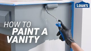 How to Paint a Vanity | Easy Bathroom Updates