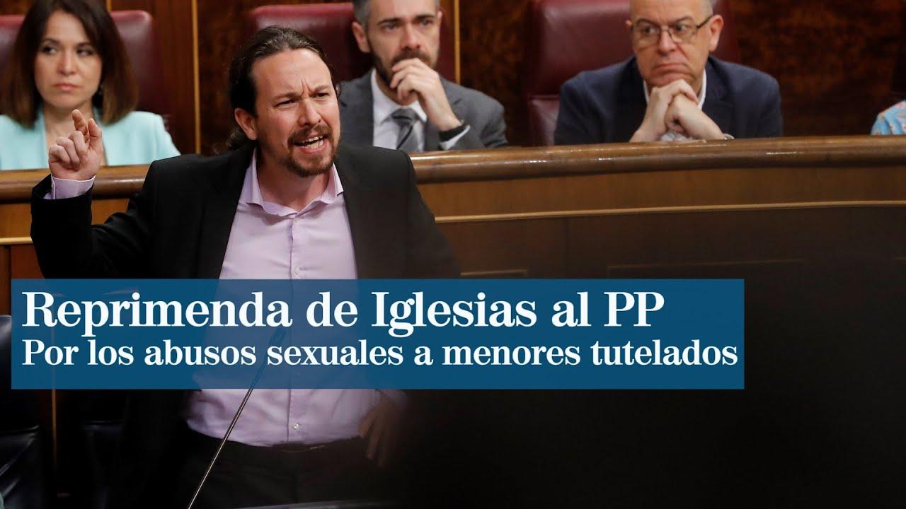 """Pablo Iglesias tilda de """"indignos"""" y """"repugnantes"""" a PP y Vox por acusarlo de inacción en el caso de abusos a menores t"""