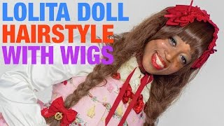 Lolita DOLL HAIRSTYLE TUTORIAL : wigs & accessories | 青木美沙子監修kawaii黒人ロリータヘアメイク講座 Thumbnail