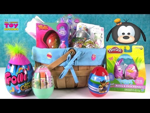 Thumbnail: Easter Basket Surprise Eggs Tattoos Warheads Candy Barbie Shopkins & More Opening | PSToyReviews