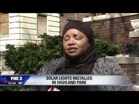 RCI installs solar lights in Highland Park