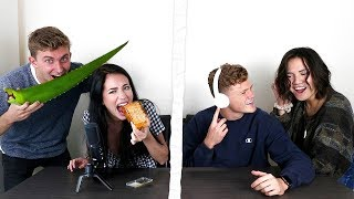ASMR GUESSING FOOD CHALLENGE ft. HALEY PHAM, KENNEDY WALSH, & RYAN YERROW