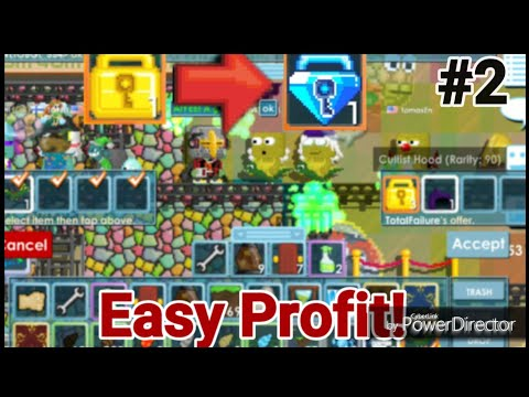 WL TO BLUE GEM LOCK #2 Easy Profit! (TRADING ONLY) - Growtopia