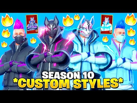 LEAKED! EMOTES With *REMIXED DRIFT* Skin! *Selectable Styles* (Catalyst Color Styles For Drift)