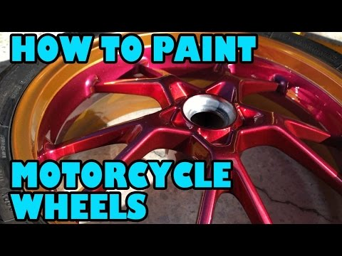 How To Paint Motorcycle Wheels. Speed T Project