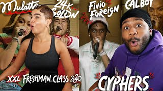 WHO WAS BETTER?! | Fivio Foreign, Calboy, 24kGoldn and Mulatto's 2020 XXL Freshman Cypher [REACTION]